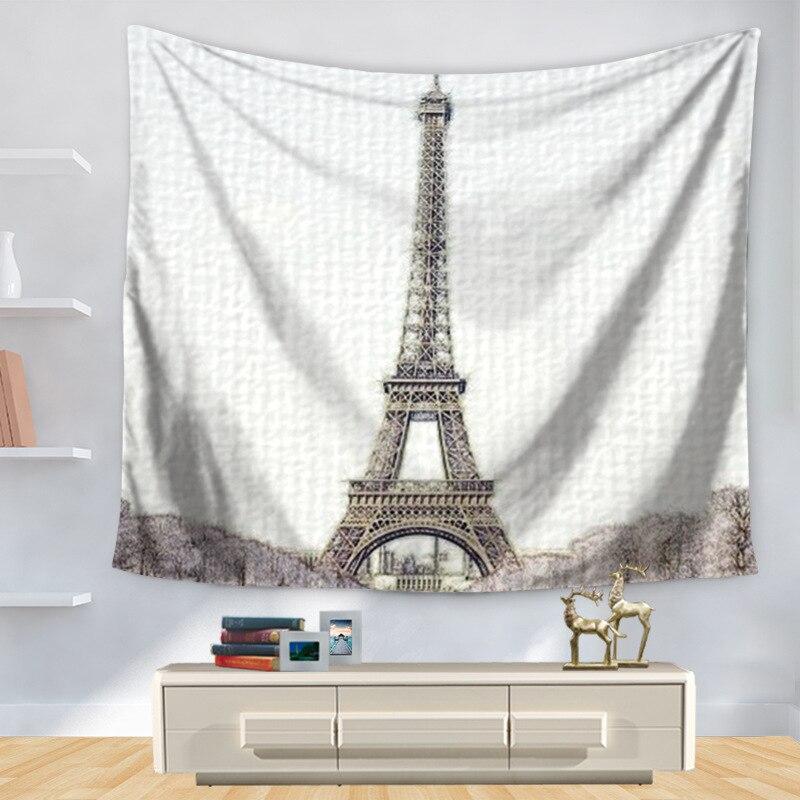 Large Printed Pyramid Eiffel Tower Wall Hanging Boho Wall