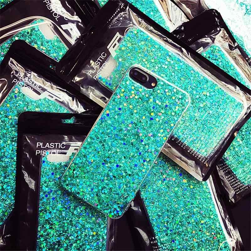 Gurioo Silicone Bling Pha Lê Lấp Lánh Kim Sa Lấp Lánh Cứng Ốp Lưng Điện Thoại Iphone 11 5 SE 6 6S 7 8 X Plus XR XS Max Ốp Lưng Bảo Vệ