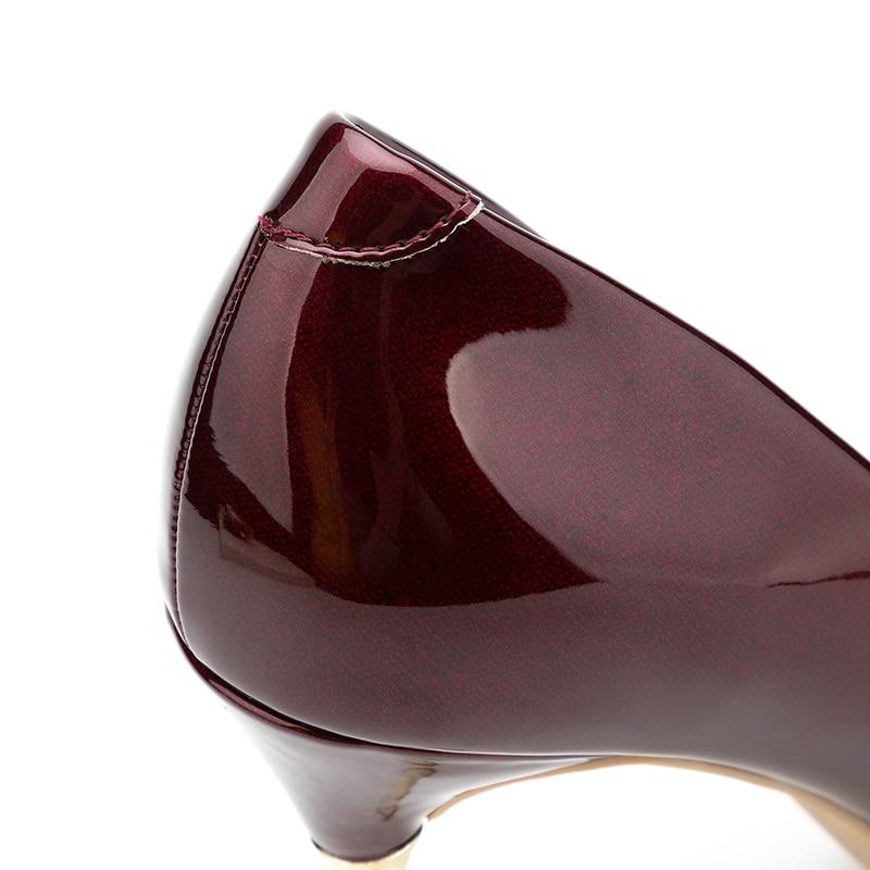 azul Metal rojo {d Sexy De plata Henlu} Tacones Altos Color Stiletto amp; Las Mujer Bombas Tacón Zapatos Gradiente Fiesta Negro Mujeres Fetiche RHR6q