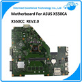 Placa madre para asus x550ca x550cc rev2.0 i5 cpu ddr3 mainboard 60nb00u0-mbd030 tablero de prueba totalmente integrado