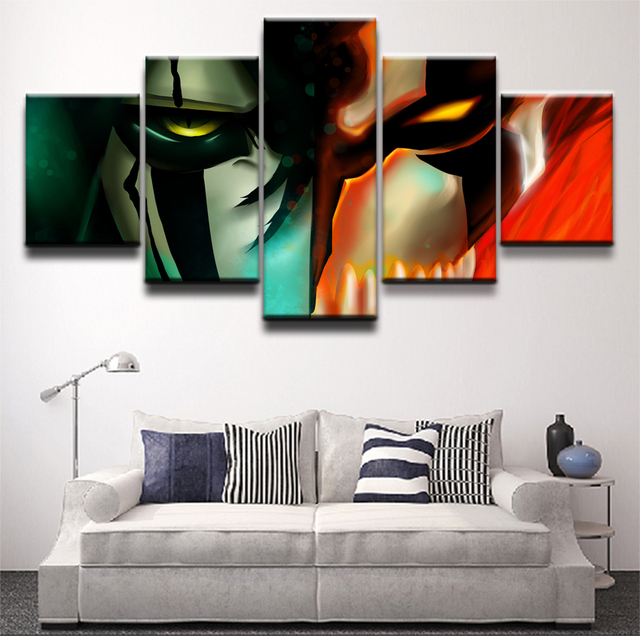Hd Printed 5 Piece Anime Bleach Modular Picture Wall Art Frame Apartment Decor Poster Painting For Bedroom Living Room Canvas
