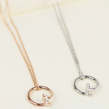 Temperament van ms contracted and fashionable western style nails collarbone fine necklace pendant brief paragraph