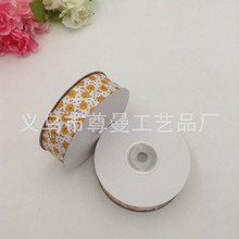 DIY Ribbon Webbing Digital Printing Thermal Transfer Belt Clothing Shoes Accessories Decorative Whorl Yellow Round Pattern