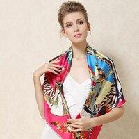 silk scarfs women 2017 woman silk large squre oversized fashion brand beach silk scarf wrap shawl pashminas female scarf silk