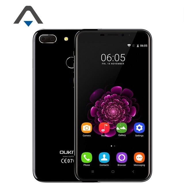 "Original Oukitel U20 Plus LTE 4G Mobile Phone MTK6737T Quad Core 5.5"" 1920*1080P 2G+16G Three Camera Android 6.0 Fingerprint ID"