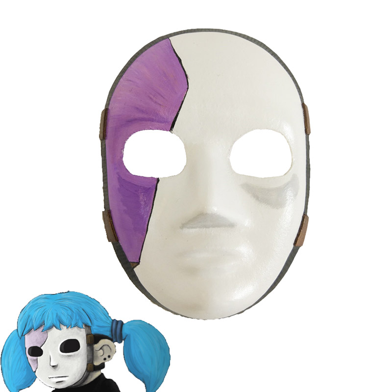 20.5cm X 15cm Sally Face Mask Sallyface Cosplay Mask Sally Masks Game Sallyface Cosplay Costume Accessories Props