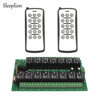10A 24V Relay 15CH Circuit Board Wireless RF Remote Control Switch 2 Transmitter Receiver 315MHz 433MHz