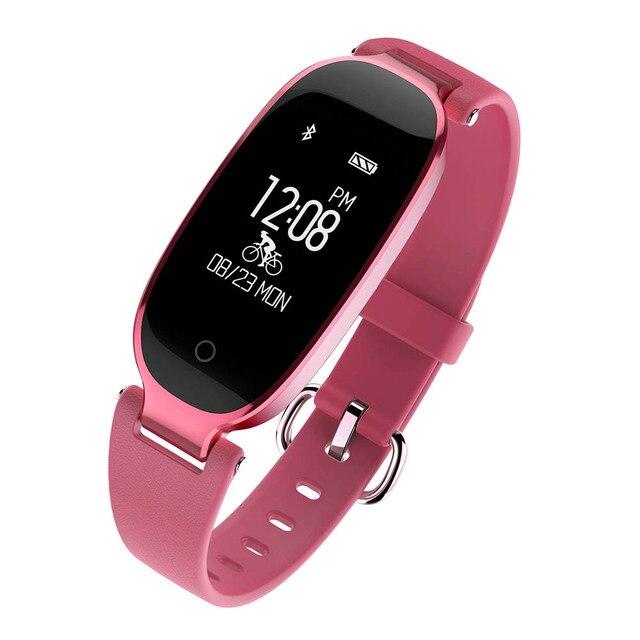 4e8519c7c865 € 21.55 67% de DESCUENTO Reloj inteligente a prueba de agua a la moda SK3  Bluetooth para mujer, Monitor de ritmo cardíaco, rastreador de Fitness, ...