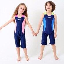 Спандекс Одна деталь ванный комплект детский плавательный костюм для мальчиков и девочек спортивный костюм для серфинга детский купальный костюм летняя одежда пляжное платье