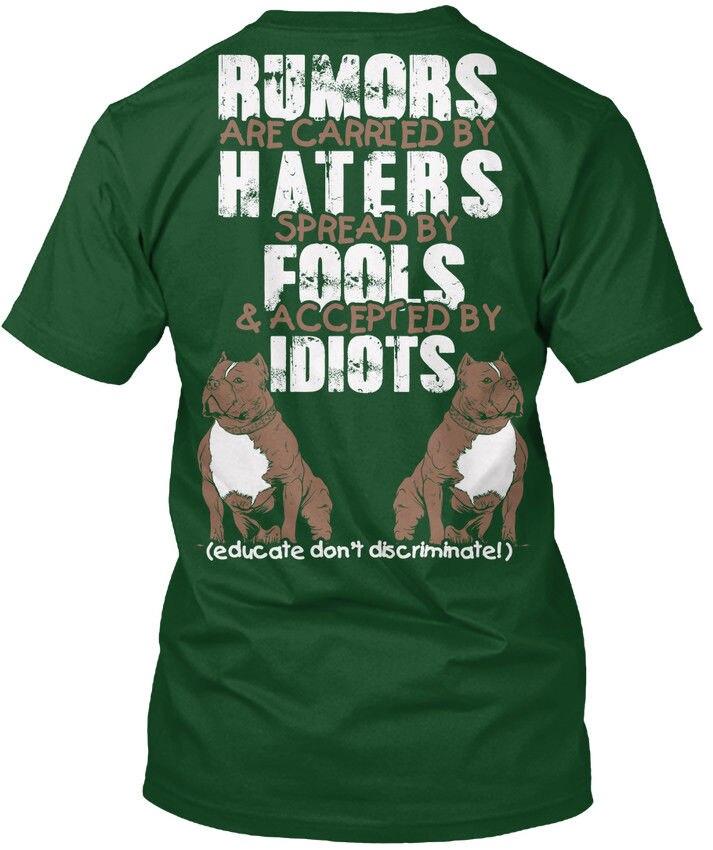 Рассказать не различить питбуля-слухи популярны Tagless футболка