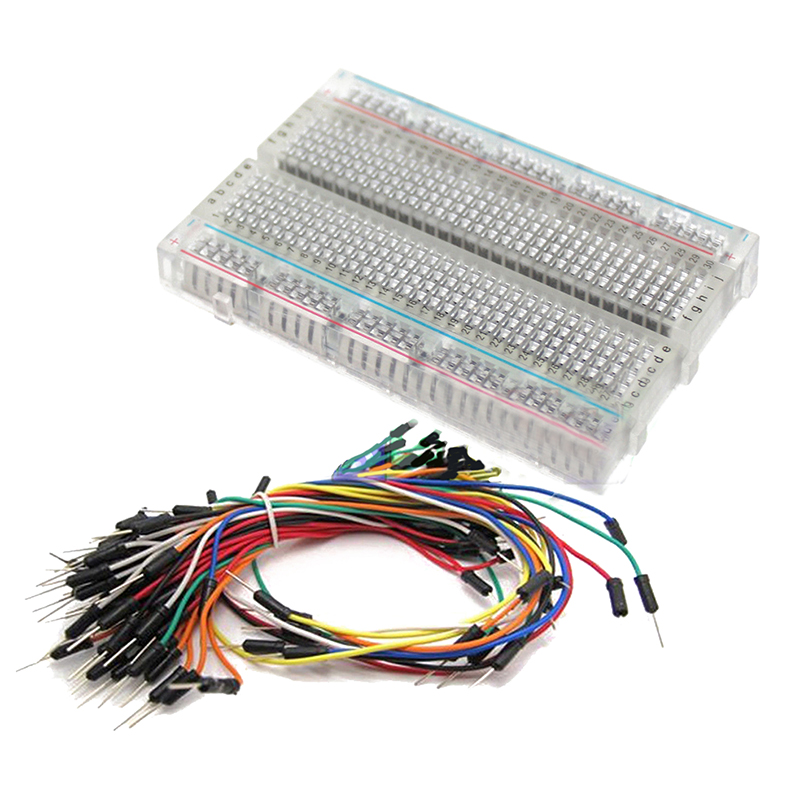 Clear Mini Prototype test board deck and 65pcs Breadboard Wire cable ...
