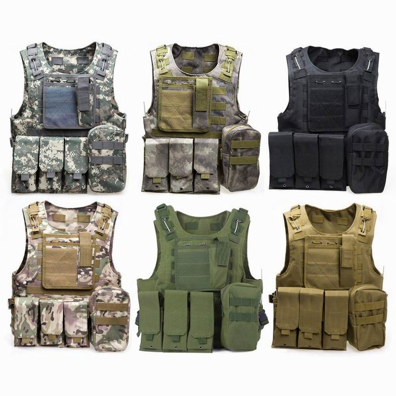 2016 Camouflage Hunting Military Tactical Vest Wargame Body Molle Armor Hunting Vest CS Outdoor Equipment with 7 Colors