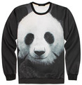 Panda Sweatshirt 3D Print Men & Women 2017 New Fashion Crewneck Pullovers Free Shipping