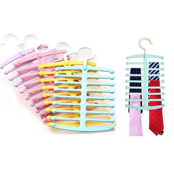 Горячие продажи Fishbone форме вешалки галстук Полотенца ремень шаль шарф стойку экономия пространства Самые низкие цены