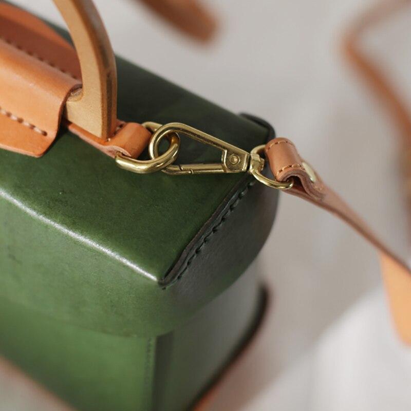 Hand Tasche Quadratische Bean Schräge orange Grün Wind Schnalle Einzelnen Aetoo Port Quark gehalten Einfache Schulter Kleine Retro Hundert XY7qpw