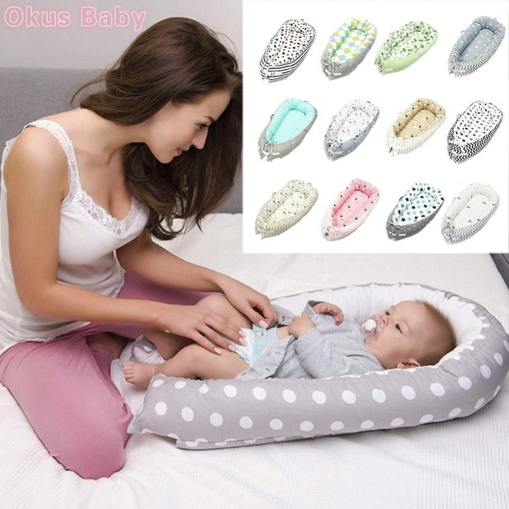 19 Colors Baby Nest Bed Crib Portable Removable And Washable Crib Travel Bed For Children Infant Kids Cotton Cradle Dropshipping