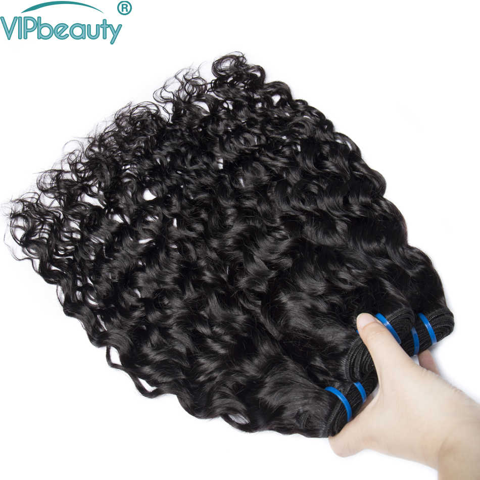 VIP красота индийский волна воды не волосы remy расширение, натуральные волосы weave связшт. Ки 1 шт./3 шт./4 шт. натуральный цвет 1b, может быть окрашен
