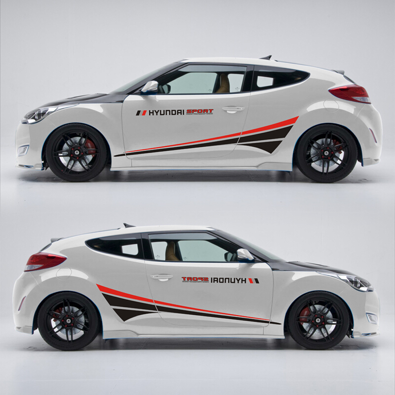 World Datong Car Styling Sport Car Sticker For Hyundai Veloster Car Accessories and Decals Auto Sticker