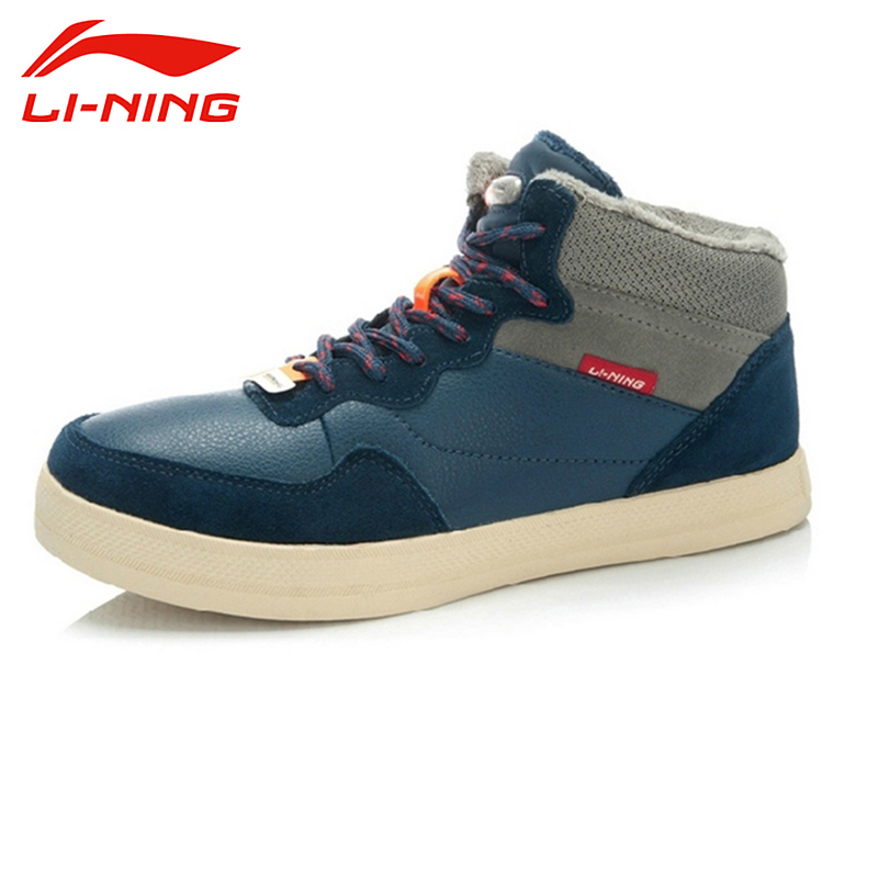 LI-NING New Winter Height Increasing Coldproof Keep Warm Camping Leisure Sports Shoes Sneakers Walking Shoes Men ALAJ071 XMR1062 li ning new arrival skateboard boot height increasing winter high top sport shoes sneakers walking shoes men alak049 xmr1159