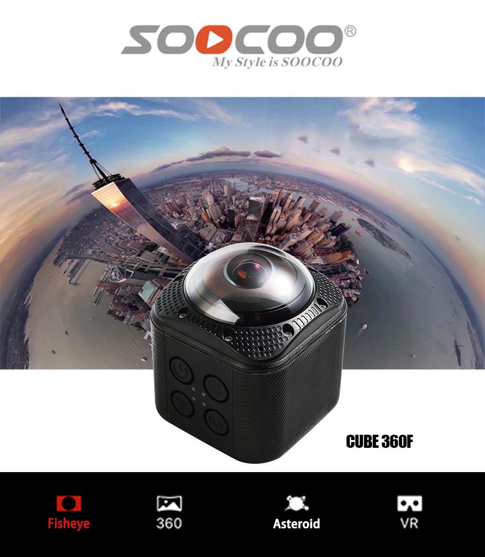 SOOCOO Cube360F 1080P Full HD 360 Degree Panorama Camera Wifi  (1)