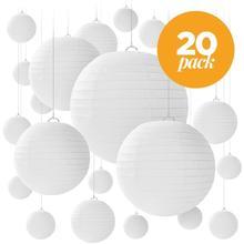 """20 шт. светодиодный светильник s/Китайский Японский """"-12"""" фонарики из белой бумаги для свадебной вечеринки хэллоуин подвесной Diy светодиодный светильник Декор"""