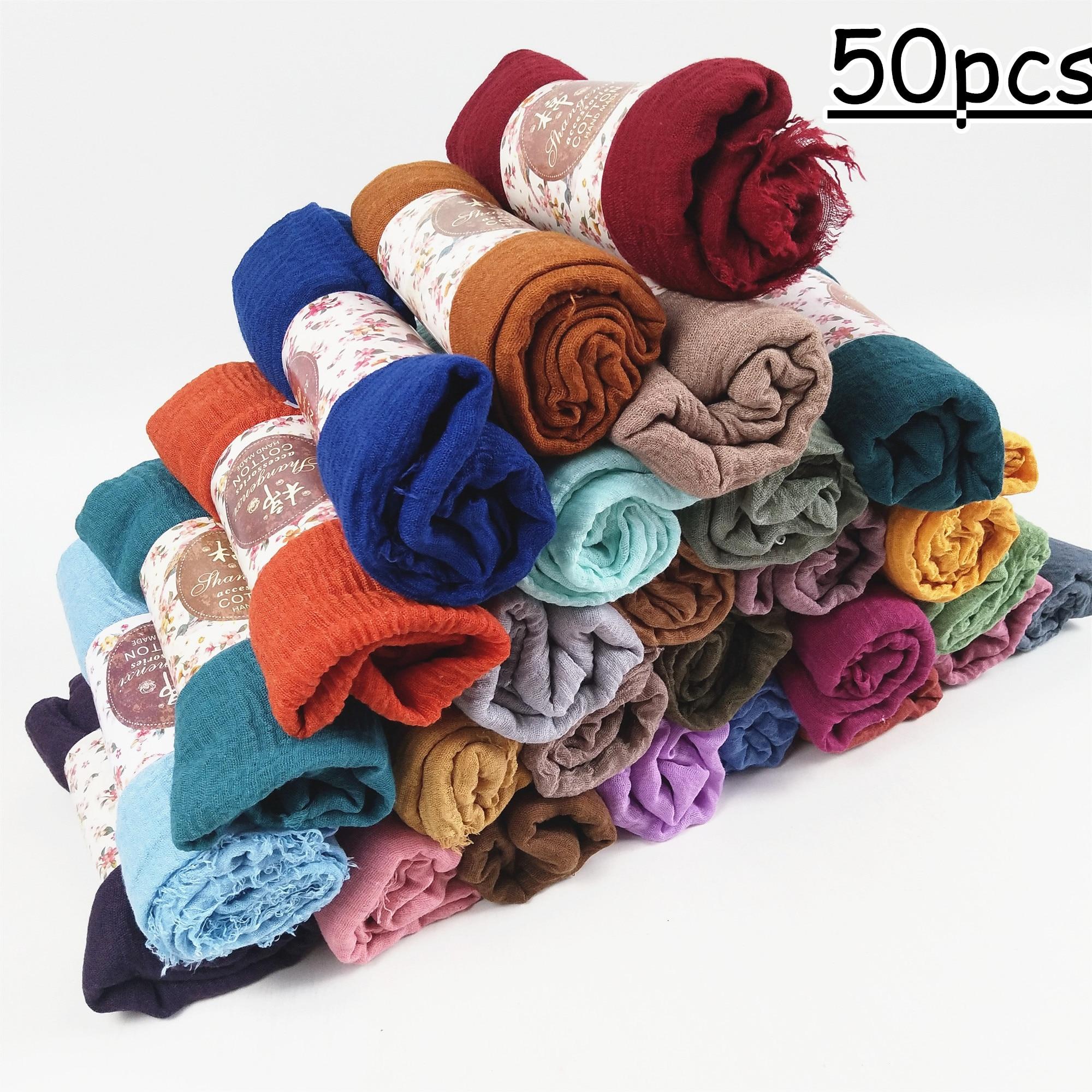 J4 Gorąca sprzedaż bubble zwykły szalik / szaliki frędzle kobiety miękkie stałe hijabs popularne szale szalik duży pashmina wrap