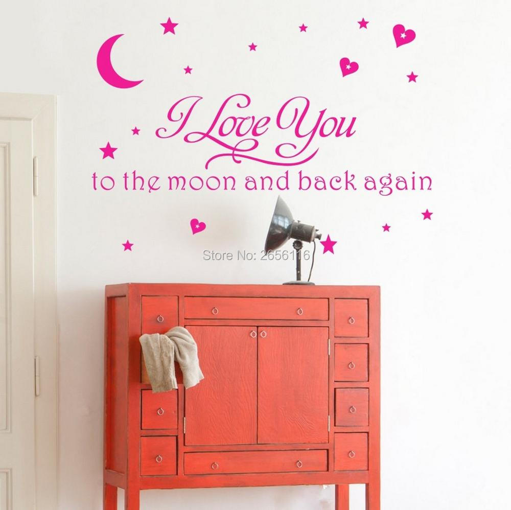 compare prices on baby children quotes online shopping buy low i love you to the moon and back again quotes wall decals for baby room nursery