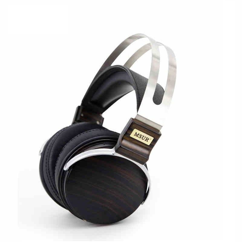 Original High End MSUR N650 HiFi Wooden Metal Headphone Headset Earphone With Beryllium Alloy Driver Portein Leather T80 100% original high blon b6 hifi wooden metal headband headphone headset earphone with beryllium alloy driver leather cushion