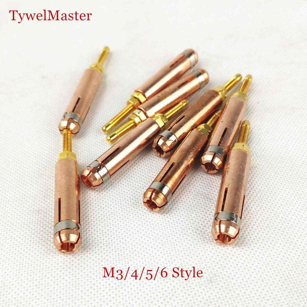 10pcs/pk Stud Welding Chuck Collet Grip M3 M4 M5 M6(default) M8 M10 For Stud Welding
