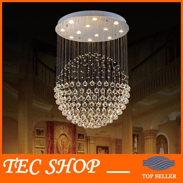 Best Price Modern LED Crystal Chandelier Bedroom Lamp Creative Restaurant K9 Cystal Chandelier Hanging Wire Ball Chandelier