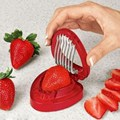 1Pcs Strawberry Slicer Plastic Fruit Carving Tools Salad Cutter Berry Stem Leaves Huller Remover Hot Strawberry Cutter