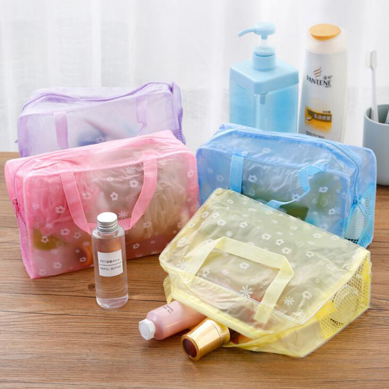 Women Travel Transparent Cosmetic Bag Zipper Trunk Makeup Case Make Up Bags Handbag Organizer Storage Pouch Toiletry Wash Bag 10 pcs car spdt 5 pin 1no 1nc green indicator relay ceramic socket 80a 12v dc