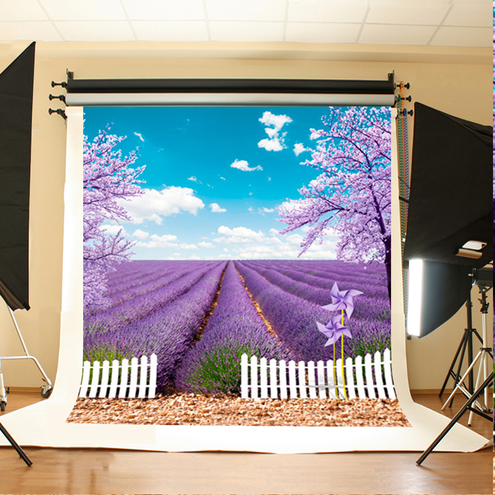 Wedding Photography Background Windmill Tree Fence Birthday Photo Backdrops Purple Flowers Garden Backgrounds for Photo Studio 200 300cm backgrounds for photo studio photography backdrops white green the open air terrace flowers tree for wedding