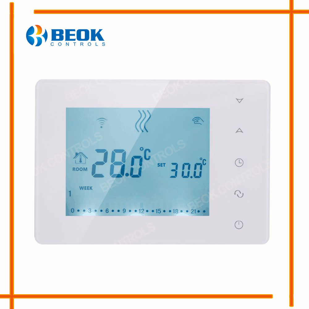 BOT X306 Wireless Touch Screen Programmable Gas Boiler Thermostat ...