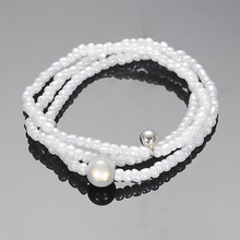 3pcs Fashion Seed Beads Handmade Bracelets with Silver CCB Charm Miracle Beads Bracelet For Women Bohemian Combination Bracele(China)