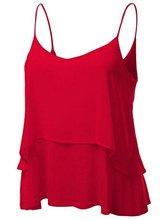 Abetteric Women's Layered Irregular Hem Loose Slip Vest