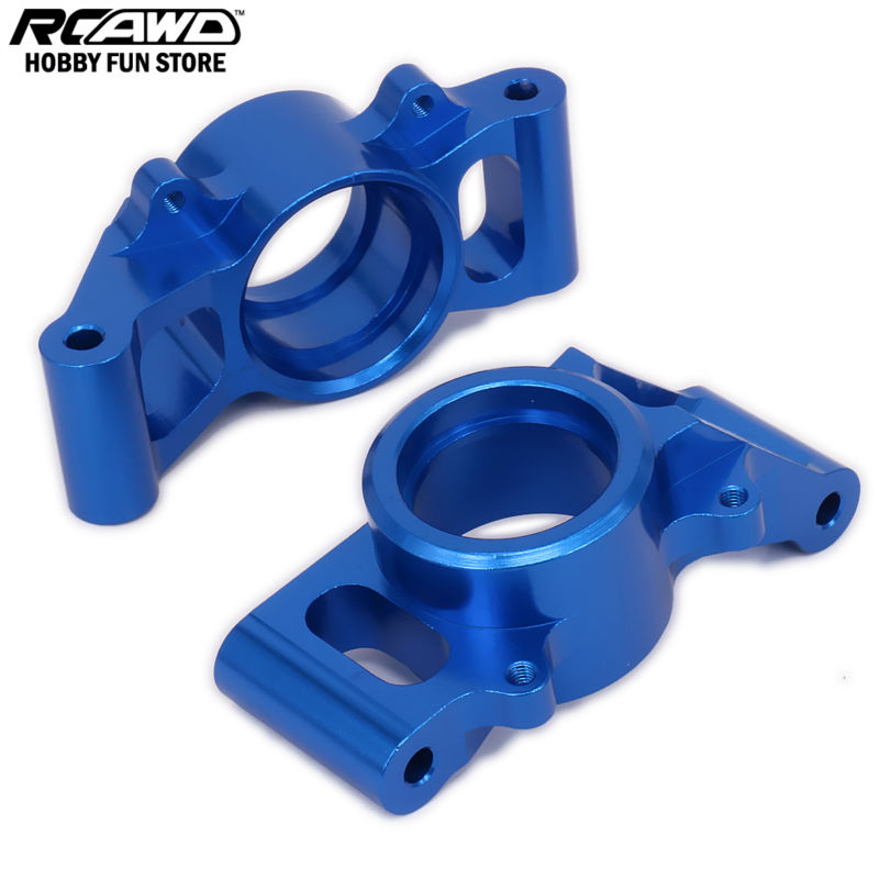 1/5 1/6 Traxxas X-MAXX Rear Hub Carrier Stub Axle Carriers For Rc Hobby Car 7752 6061-T6 Brushless Electric Monster Truck for traxxas x maxx 4x4 upgrade parts aluminum rear knuckle arms hub carrier l r 7752 hop up
