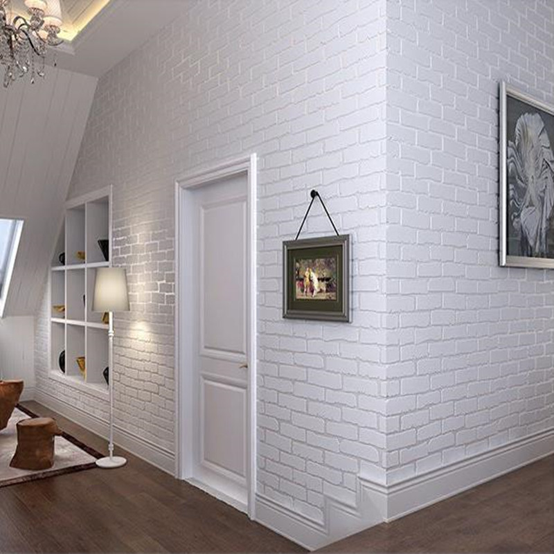 3d brick self adhesive wallpaper roll modern embossed 3d effect brick wallpaper for walls living. Black Bedroom Furniture Sets. Home Design Ideas
