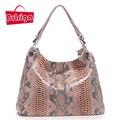 BVLRIGA Genuíno bolsa de couro bolsas de luxo mulheres sacos de designer de moda de alta qualidade serpentina bolsa de ombro mulheres sacos do mensageiro