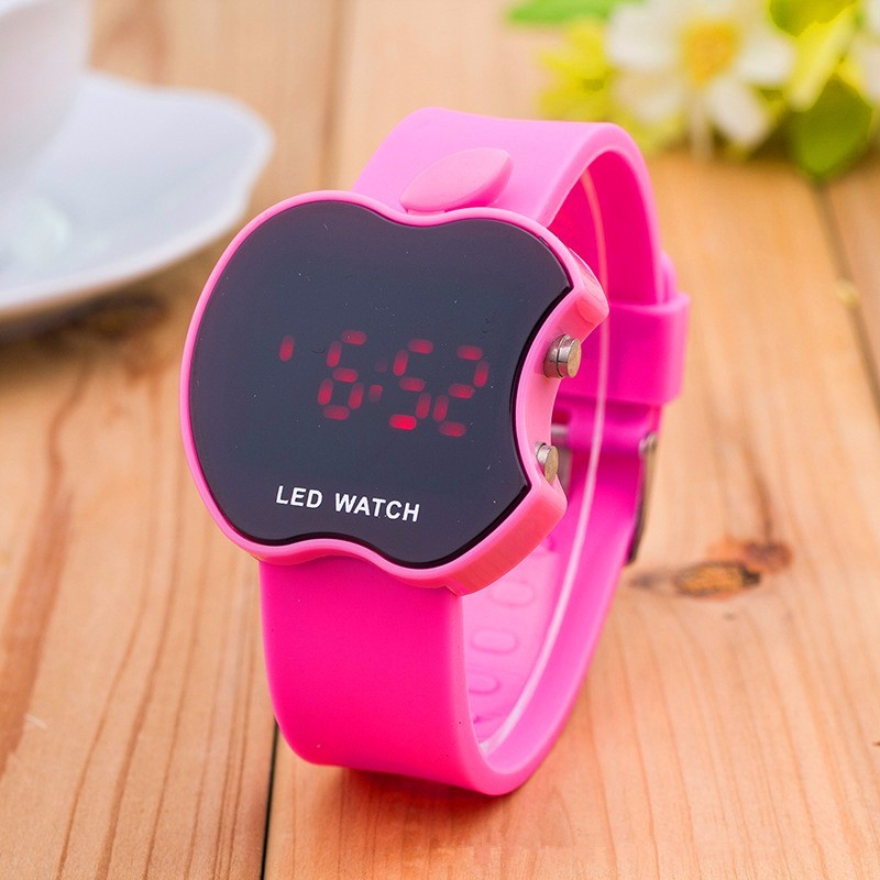 2019 New Fashion Cartoon LED Watch Digital Women Casual Wrist Watch Sports Jelly Color Touch Electronic Watches Student Gift