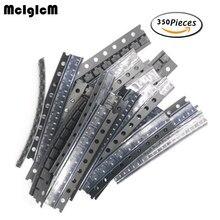 Набор транзисторов 350 шт. 35 значение smd набор транзисторов M1(1N4001)/M4(1N4004)/M7(1N4007)/S9012 S9014 S8050 S8550