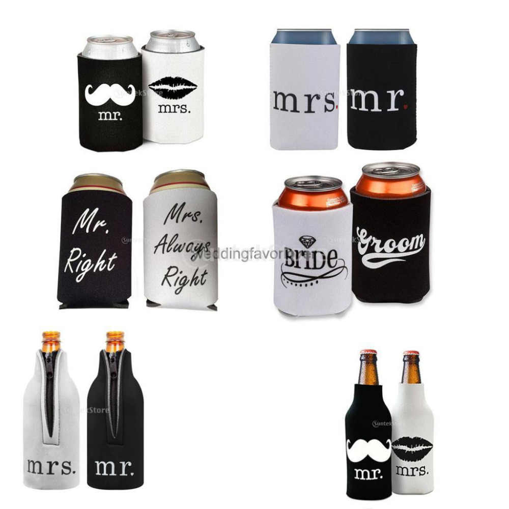 Novelty Stubby Beer Bottle Tin Can Cooler Sleeve Wrap Wedding Party Decoration