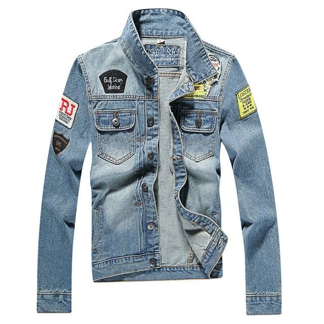 72d59306c3f3a Men s Denim Jacket high quality fashion Jeans Jackets Slim fit casual  streetwear Vintage Mens jean clothing