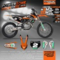 Custom Team GraphicsDecals 3M Customized Background Sticker Kits For KTM SX SXF XCW EXCF EXC 125 250 300 350 450 530 MX Enduro