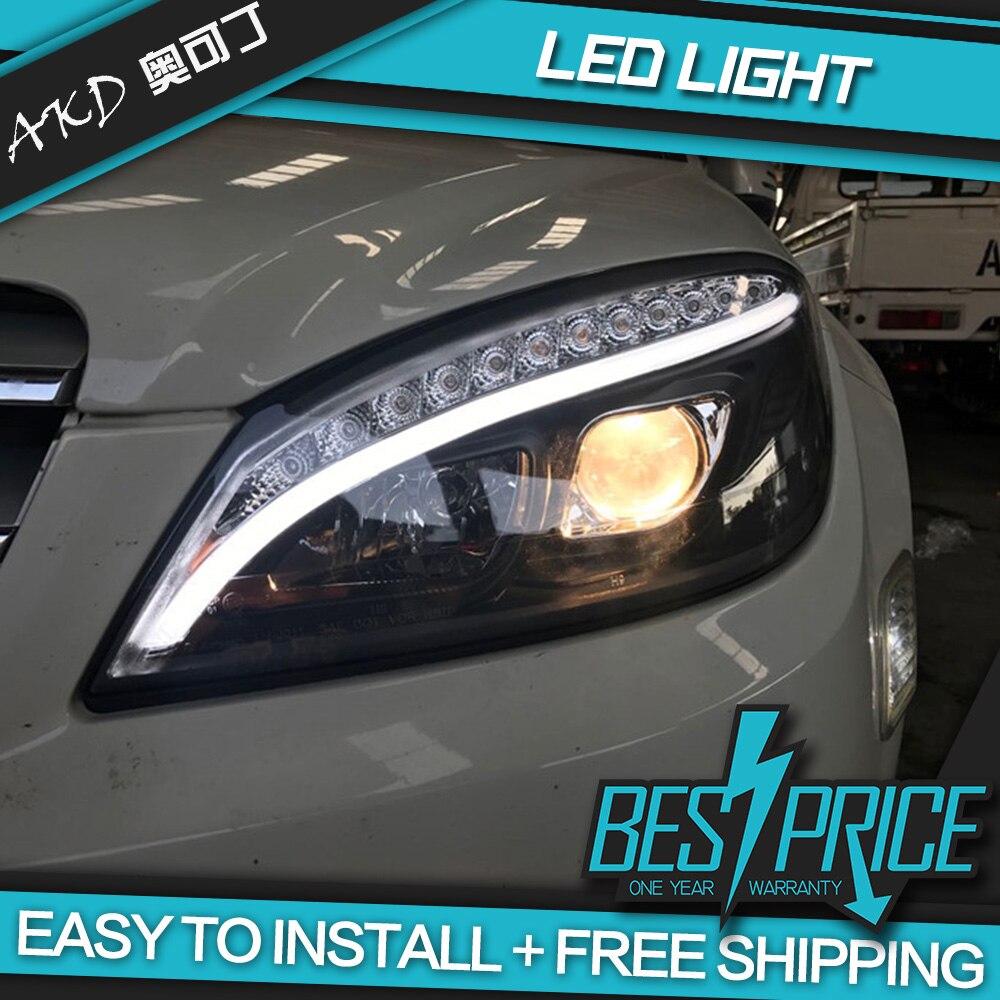 AKD tuning voitures phare pour W204 phares 2007-2010 C300 C260 mise à niveau W205 phare LED DRL Hid Bi xénon Auto accessoires - 4