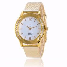 Women Watches Crystal Gold Stainless Steel Mesh Band Clock 2018 Fashion Analog Quartz Wrist Watch Montre Femme Relogio Feminino