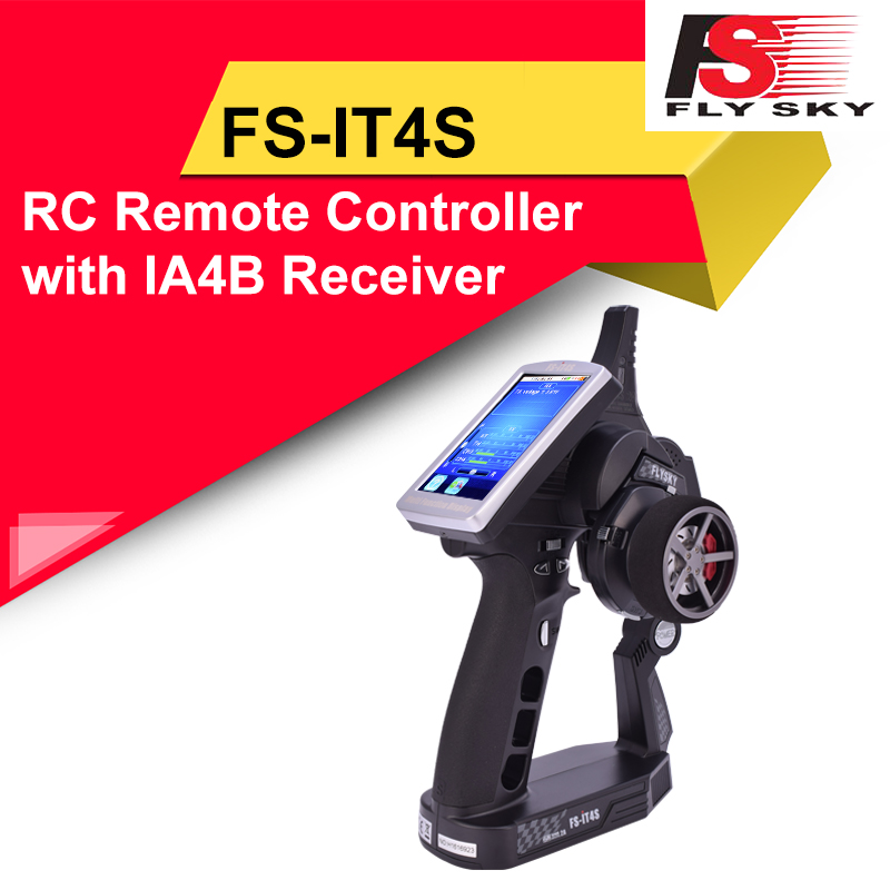 Flysky FS-iT4S 2.4G AFHDS 4CH Radio System Transmitter Controller Touch Screen