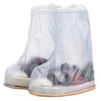 MWSC Novo das Crianças Capa de Chuva Impermeável Cobre Sapatos Meninos Menina Reutilizável Anti-Slip Cover Calçados 4 Cores