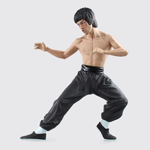 Famous World Kongfu Superstar Bruce Lee Action Figure 14 inch Kong Fu Master Bruce Lee PVC Figure for kids Christmas gift  Toy