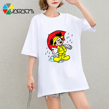 New Women Mickey Mouse T Shirts Short Sleeve Plus Size Fashion Loose Harajuku Tees Cute Cartoon Print Tops